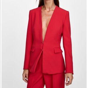 Zara NWOT Red Blazer Size Small